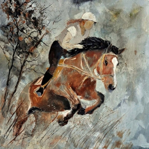 Atlar-72 Hayvanlar Kanvas Tablo