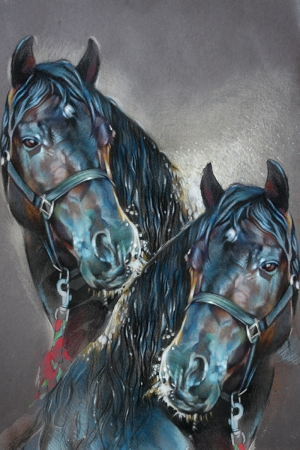 Atlar-76 Klasik Sanat Kanvas Tablo