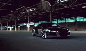 Audi R8 Spor Otomobil Siyah Kanvas Tablo