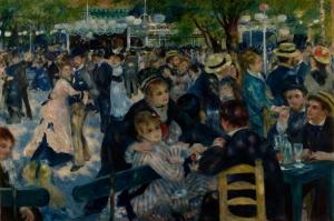 Auguste Renoir Dance at le Moulin de la Galette, Kek Değirmeni Klasik Sanat Kanvas Tablo