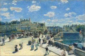 Auguste Renoir, Pont Neuf Paris, Köprü Dokuz Paris Klasik Sanat Kanvas Tablo
