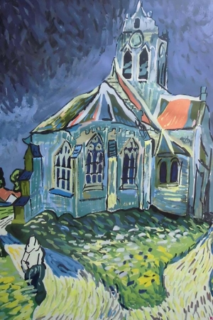 Auvers Kilisesi Manzara Sanat Kanvas Tablo