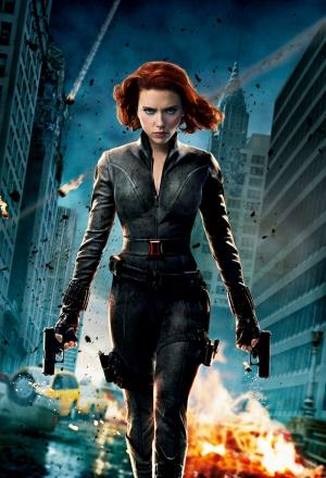 Avengers - Black Widow Karadul-2 Süper Kahramanlar Kanvas Tablo