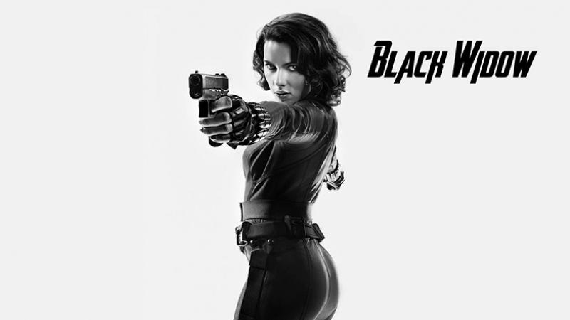 Avengers - Black Widow Karadul-3 Süper Kahramanlar Kanvas Tablo