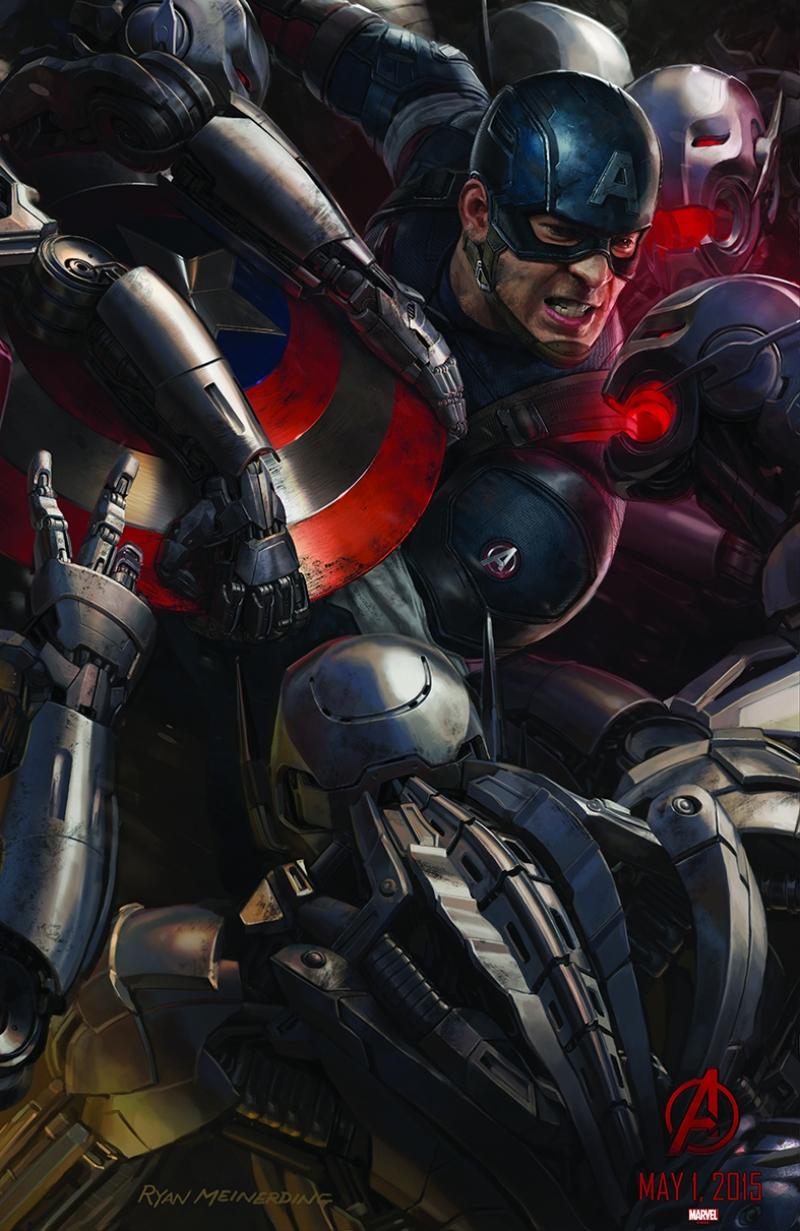 Avengers - Yenilmezler Captain Amerika Süper Kahramanlar Kanvas Tablo