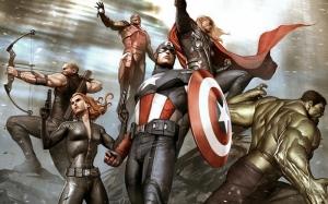 Avengers - Yenilmezler Çizgi Film Süper Kahramanlar Kanvas Tablo