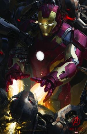 Avengers - Yenilmezler Iron Man Süper Kahramanlar Kanvas Tablo