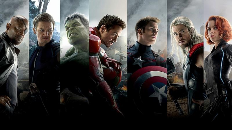 Avengers - Yenilmezler Karakterleri Süper Kahramanlar Kanvas Tablo