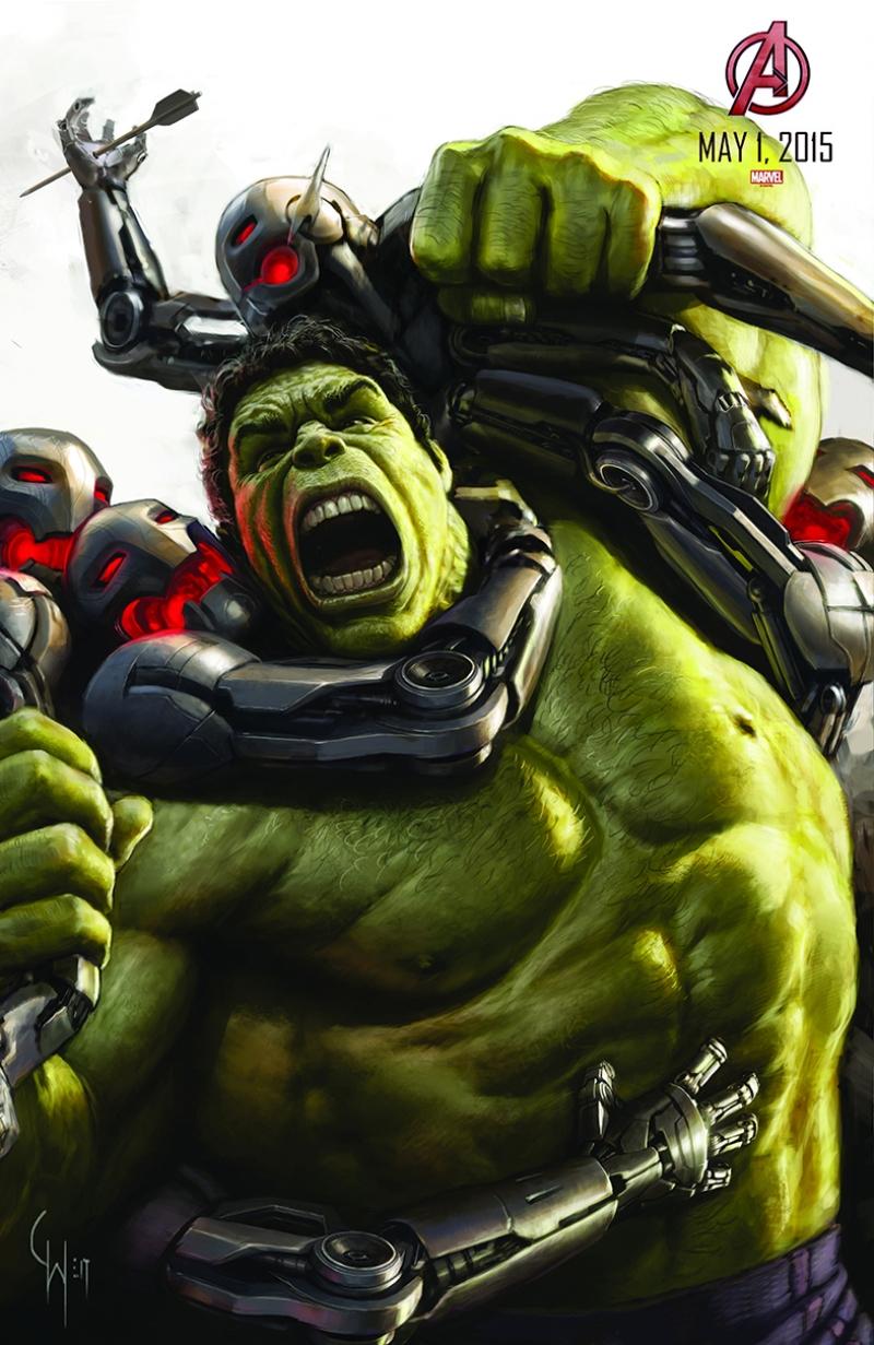 Avengers - Yenilmezler Poster-2 Hulk Süper Kahramanlar Kanvas Tablo