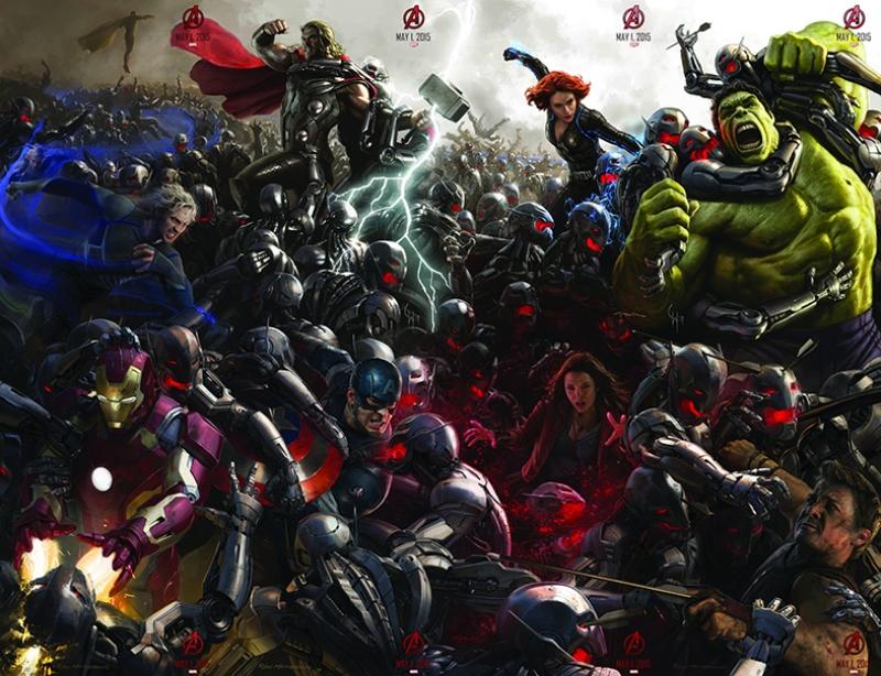Avengers - Yenilmezler Savaşta Süper Kahramanlar Kanvas Tablo
