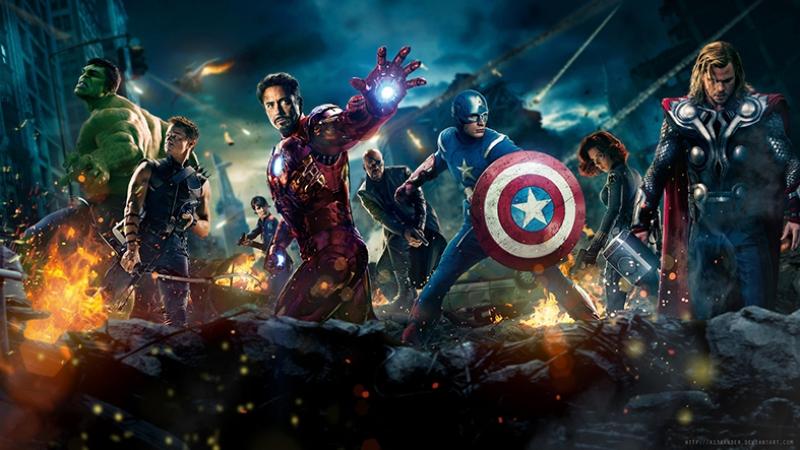 Avengers - Yenilmezler Süper Kahramanlar Afiş Marvel Kanvas Tablo
