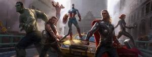 Avengers - Yenilmezler Süper Kahramanlar Panaromik Kanvas Tablo