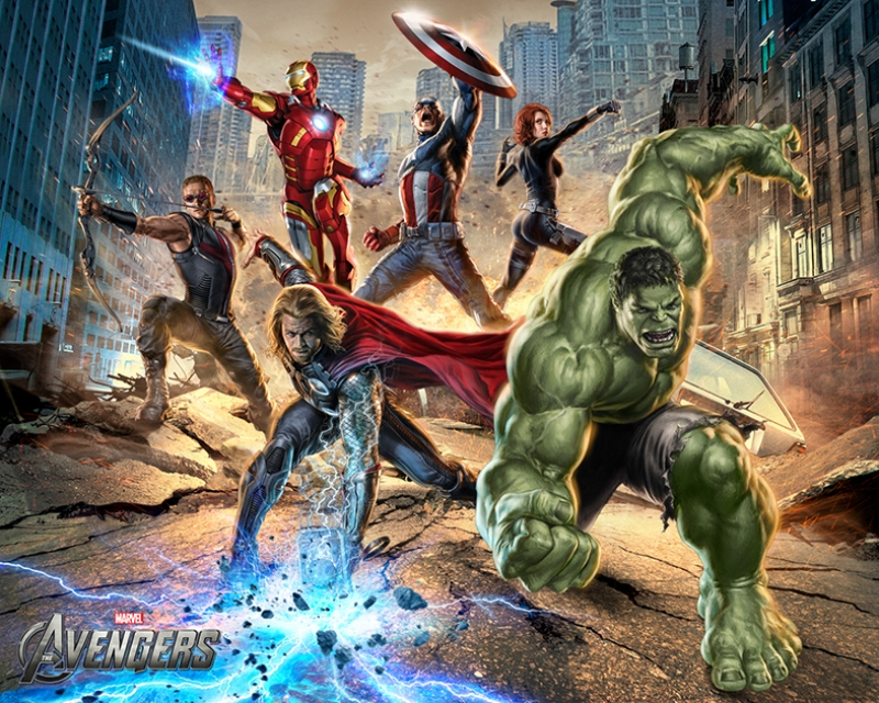 Avengers - Yenilmezler Süper Kahramanlar Poster Kanvas Tablo