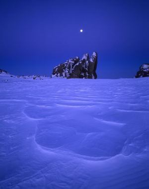 Avustralya Ay Işığı ve Kış Doğa Manzaraları Kanvas Tablo