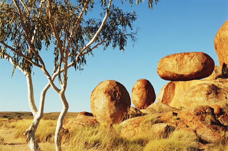 Avustralya Çöl 3 Doğa Manzaraları Kanvas Tablo