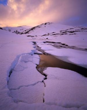 Avustralya Donmuş Irmak Doğa Manzaraları Kanvas Tablo
