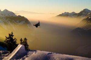 Avustralya Snowboard Doğa Manzaraları Kanvas Tablo
