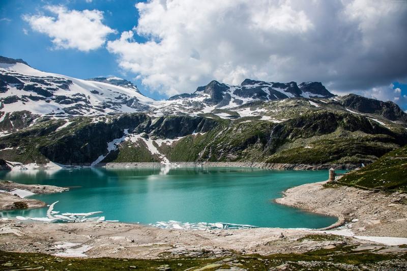 Avusturya Alp Gölleri Dağları 1 HD Doğa Manzaraları Kanvas Tablo