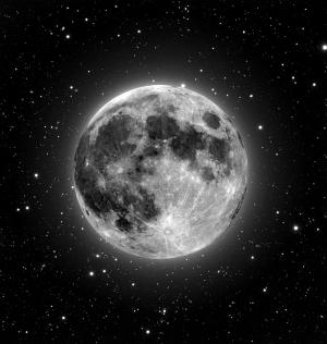 Ay Görünümü Dünya & Uzay Kanvas Tablo