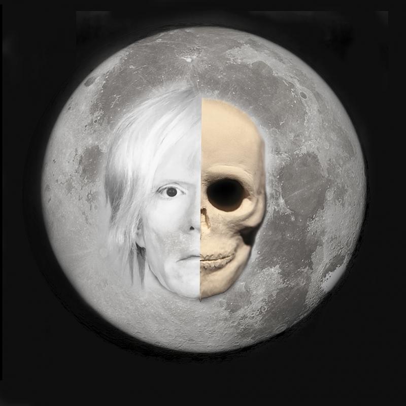 Ay ve Andy Warhol Ünlü Yüzler Kanvas Tablo