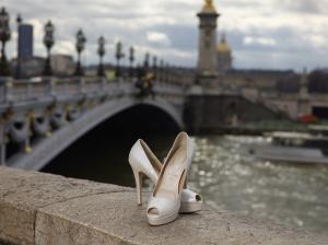 Ayakkabı ve Manzara Fotoğraf Kanvas Tablo