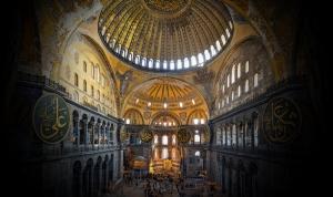 Ayasofya Camii Geniş Kadraj Dini & İnanç Kanvas Tablo