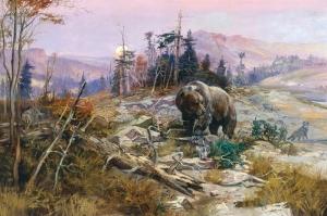 Ayılar Vahşi Hayvanlar-1, Ayı Temalı Kanvas Tablo