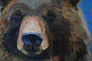 Ayılar Vahşi Hayvanlar-3, Ayı Temalı Kanvas Tablo