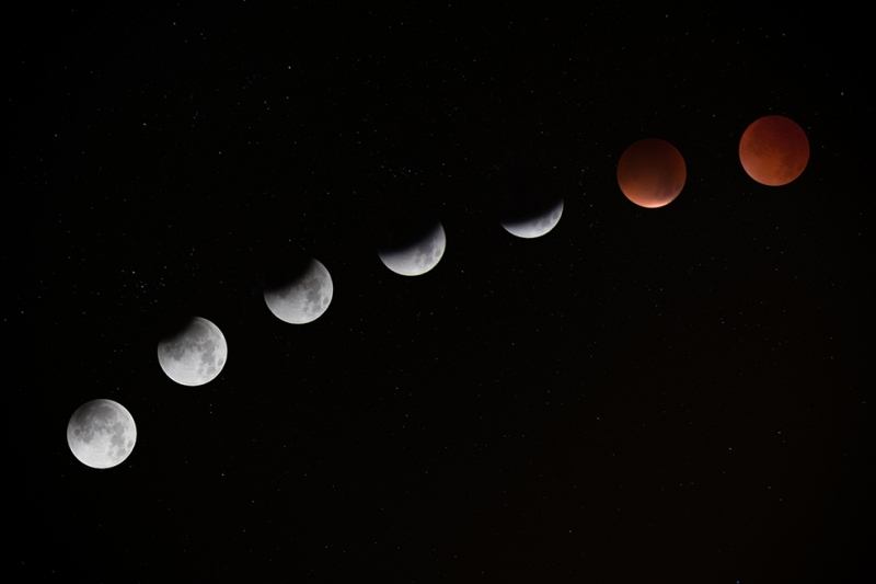 Ayın Dönüşümü Dünya & Uzay Kanvas Tablo