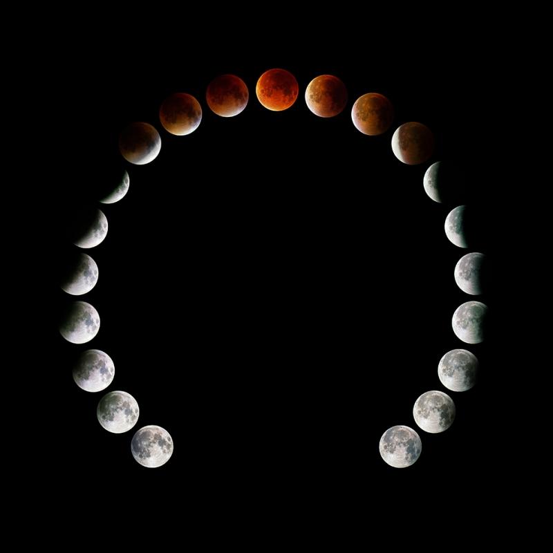 Ayın Hareketleri 2 Dünya & Uzay Kanvas Tablo