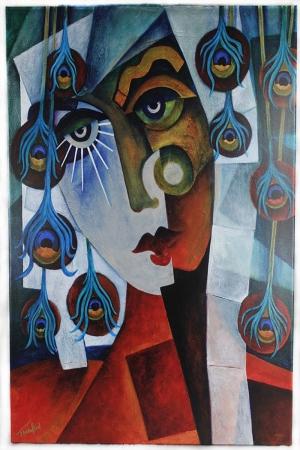 Ayna Göz, Soyut Modern Sanat Kanvas Tablo