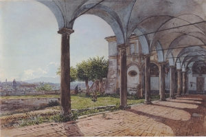 Aziz Onofrio Manastırı Roma, View From the Monastery of Sant Onofrio in Rome-1835 Kasik Sanat Kanvas Tablo