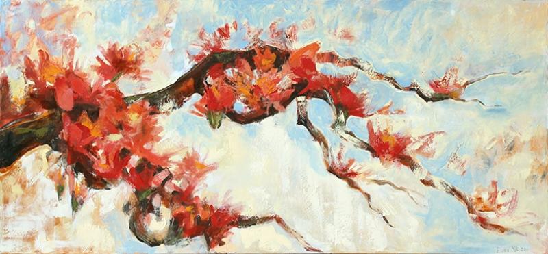 Baharın Gelişi Yağlı Boya Sanat Kanvas Tablo
