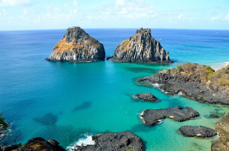 Baia Do Sancho Sahili Brezilya Doğa Manzaraları Kanvas Tablo