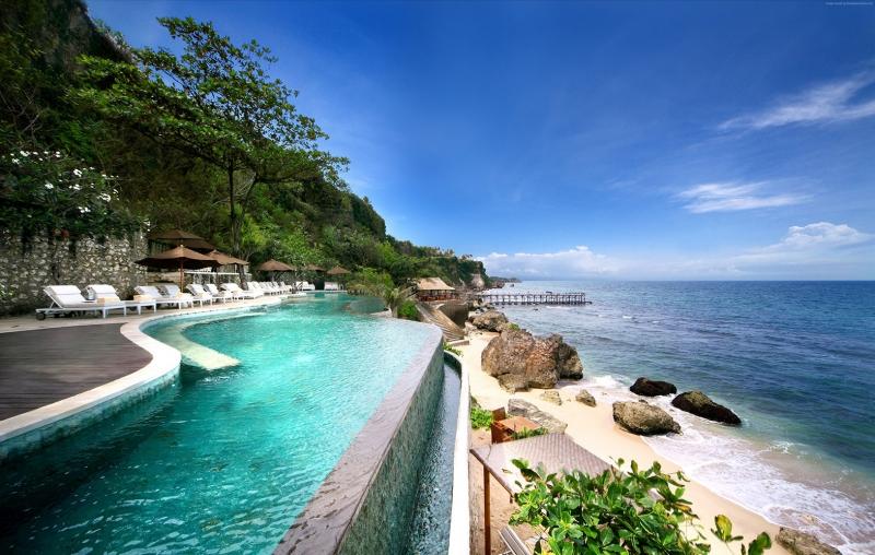 Bali Jimbaran Kumsalı Doğa Manzaraları Kanvas Tablo