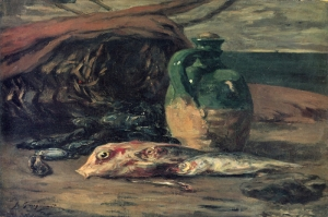 Balık Naturmort Still Life With Fish Paul Gauguin Reproduksiyon Kanvas Tablo