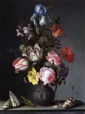 Balthasar Van Der Ast  Vazo İçinde Çiçekler Klasik Sanat Kanvas Tablo