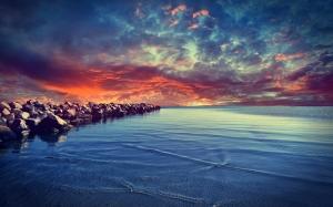 Baltık Denizi Doğa Manzaraları Kanvas Tablo