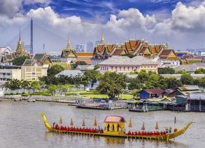 Bangkok Thailand Dünyaca Ünlü Şehirler Kanvas Tablo