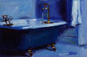 Banyo Küvet Modern Sanat Kanvas Tablo