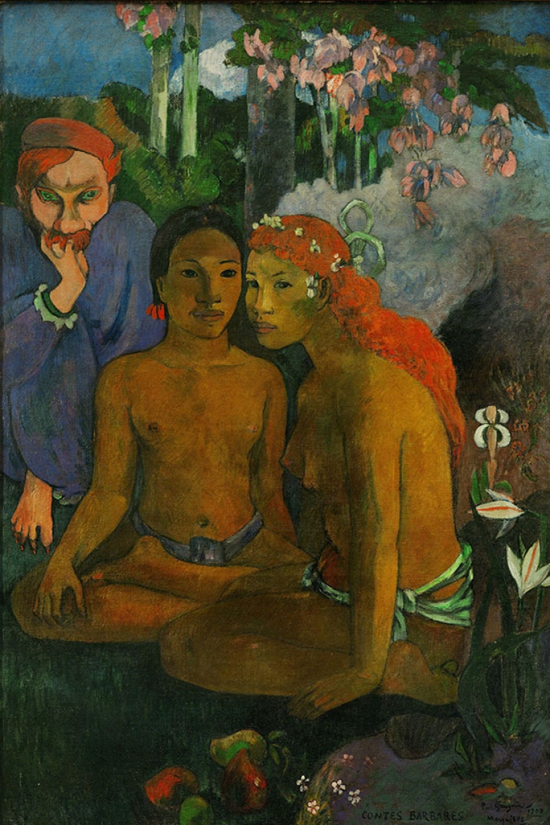 Barbar Masalları Contes Barbares-1902 Paul Gauguin Reproduksiyon Kanvas Tablo