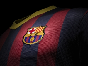 Barcelona Forma Futbol Spor Kanvas Tablo