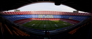 Barcelona Nou Camp 2 Panaroma Panaromik Kanvas Tablo