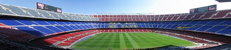 Barcelona Nou Camp Panaroma Panaromik Kanvas Tablo