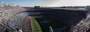 Barcelona Nou Camp Stadyum 2 Panaromik Kanvas Tablo