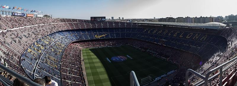 Barcelona Nou Camp Stadyum 2 Panaromik Kanvas Tablo