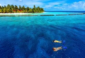Baros Maldivler Doğa Manzaraları Kanvas Tablo