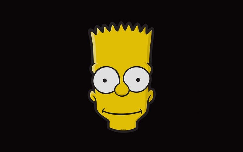 Bart Simpson Popüler Kültür Kanvas Tablo