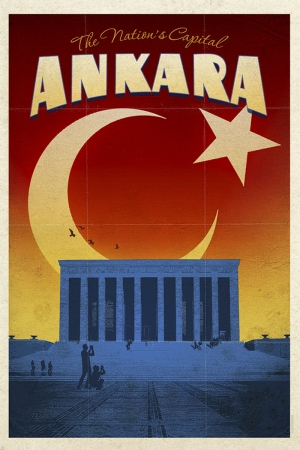 Başkent Ankara Ve Anitkabir Şehirler Kanvas Tablo