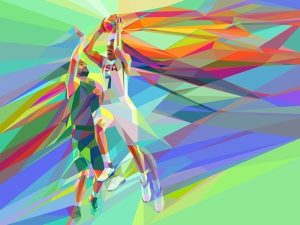 Basketbol Amerika Milli Takım Kanvas Tablo